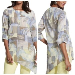 NWT Chico's Linear Lines Ali Top - Size 2